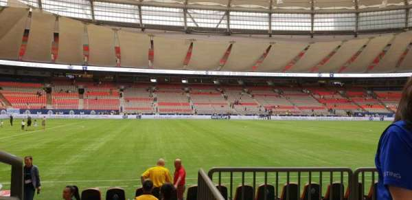 BC Place, section: 216, row: B, seat: 101