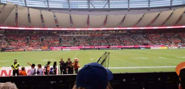 BC Place, section: 242, row: B, seat: 108