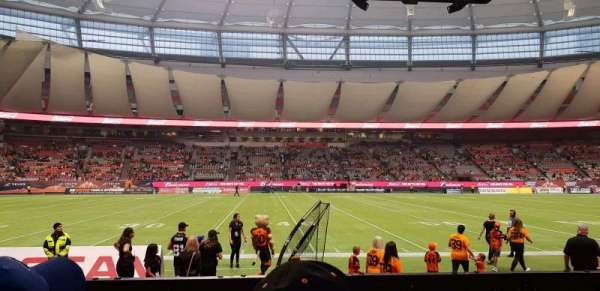BC Place, section: 242, row: B, seat: 107