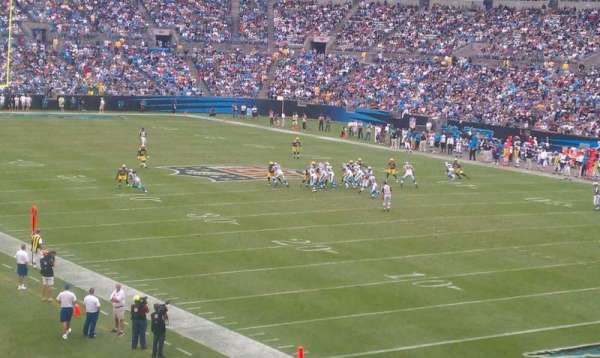 Bank of America Stadium, section: 206, row: 6, seat: 2