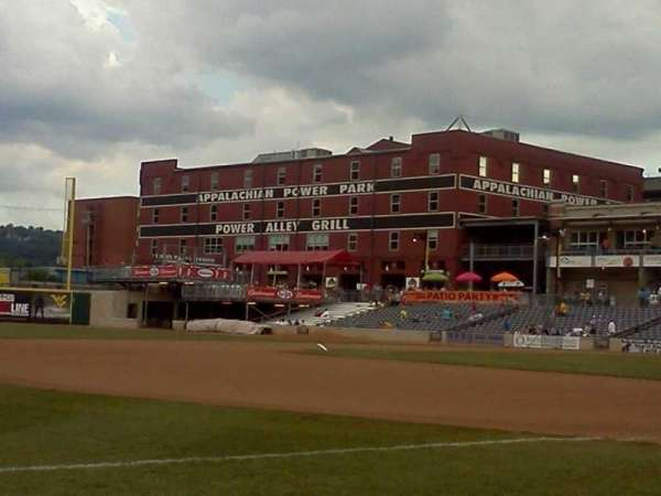 Appalachian Power Park, section: 102, row: A, seat: 10