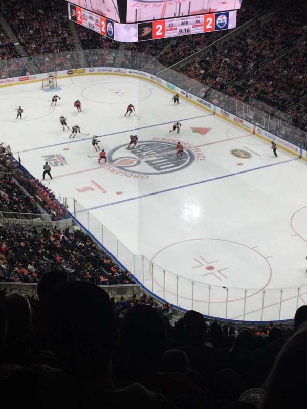 Rogers Place, section: 231, row: 12, seat: 4