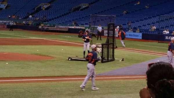 Tropicana Field, section: 115, row: n, seat: 1
