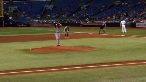 Tropicana Field, section: 115, row: N, seat: 1