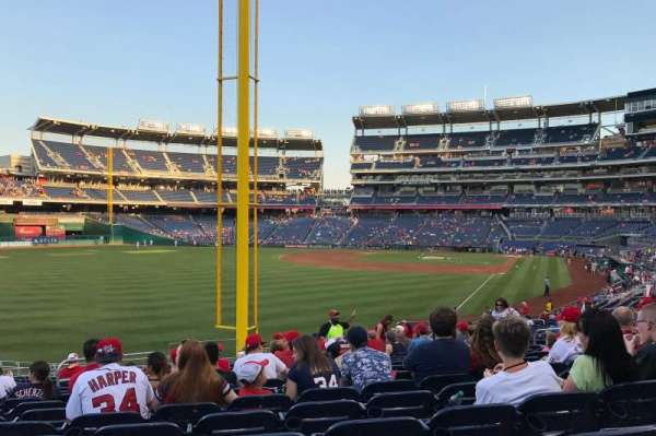 Nationals Park, section: 107, row: MM, seat: 16
