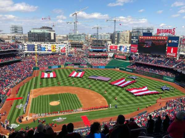 Nationals Park, section: 417, row: N, seat: 4