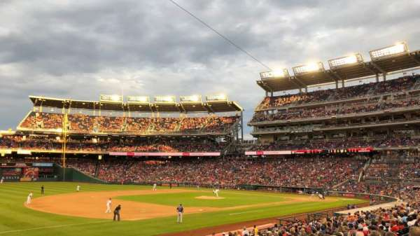 Nationals Park, section: 112, row: AA, seat: 1
