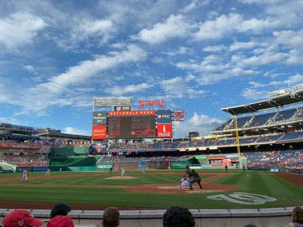 Nationals Park, section: B, row: F, seat: 10