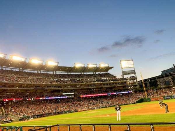 Nationals Park, section: 131, row: F, seat: 5