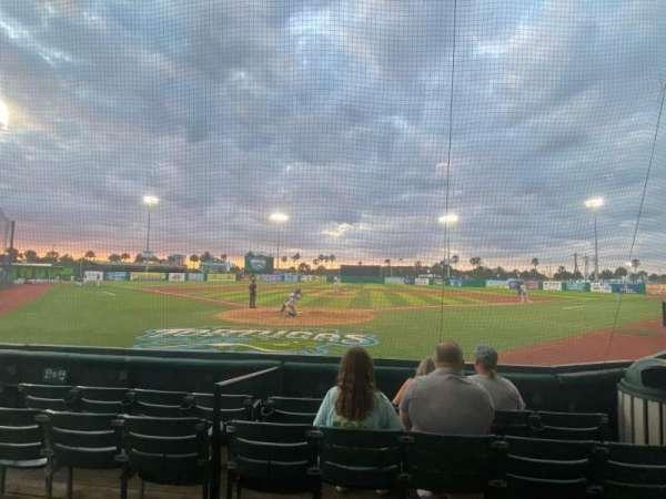 Jackie Robinson Ballpark, section: A, row: 4