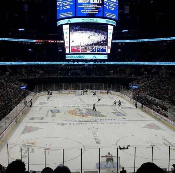 Amway Center, section: 101, row: 29