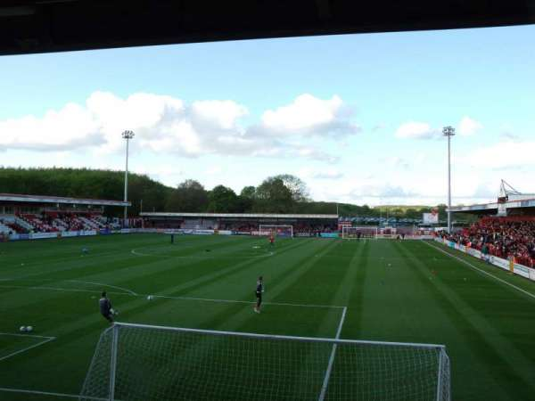 Broadhall Way, section: Away Stand A, row: K, seat: 14