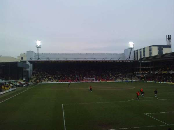 Vicarage Road, section: VR2, row: D, seat: 54