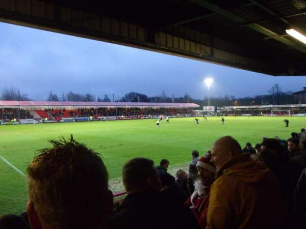 Broadfield Stadium, section: North Stand, row: Back row
