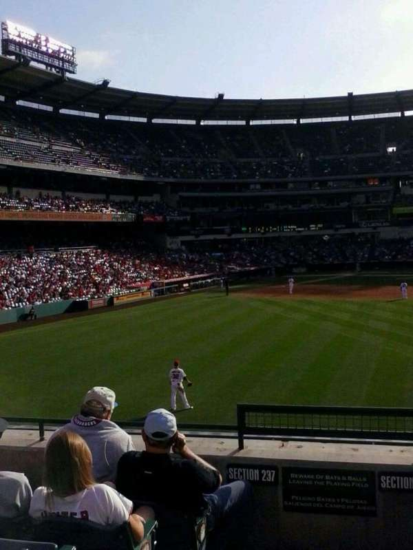 Angel Stadium, section: P238, row: F, seat: 1