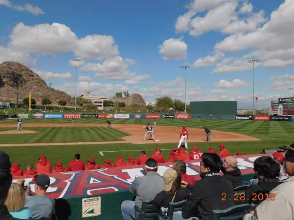 Tempe Diablo Stadium, section: 16, row: K, seat: 14