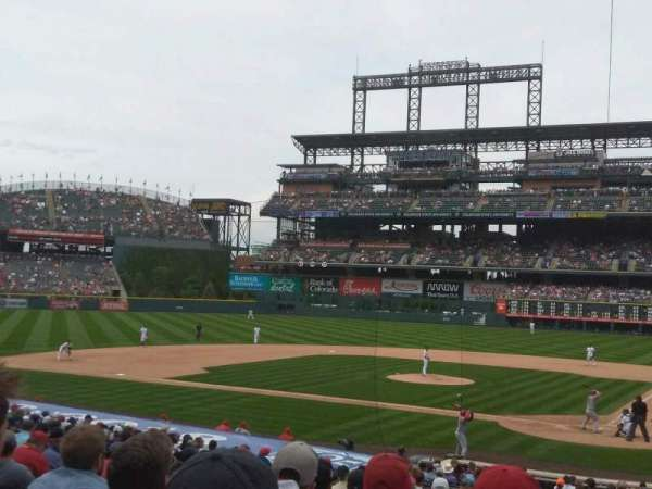 Coors Field, section: 134, row: 27, seat: 5