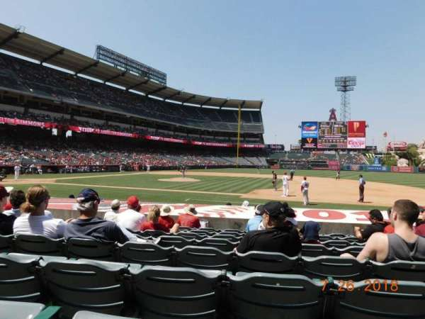 Angel Stadium, section: F125, row: K, seat: 11