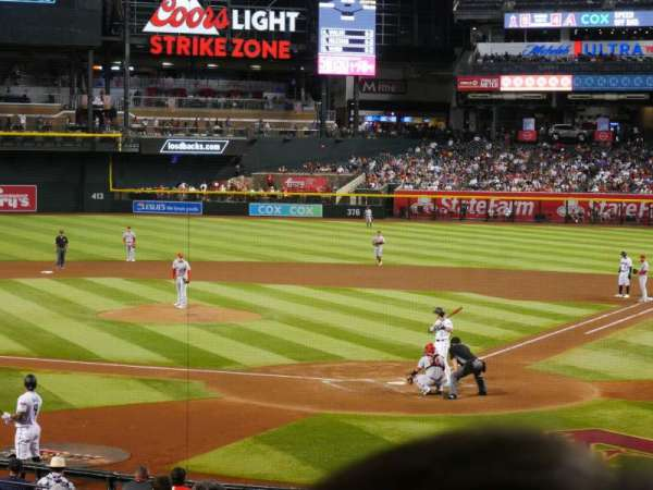 Chase Field, section: 124, row: 22, seat: 7