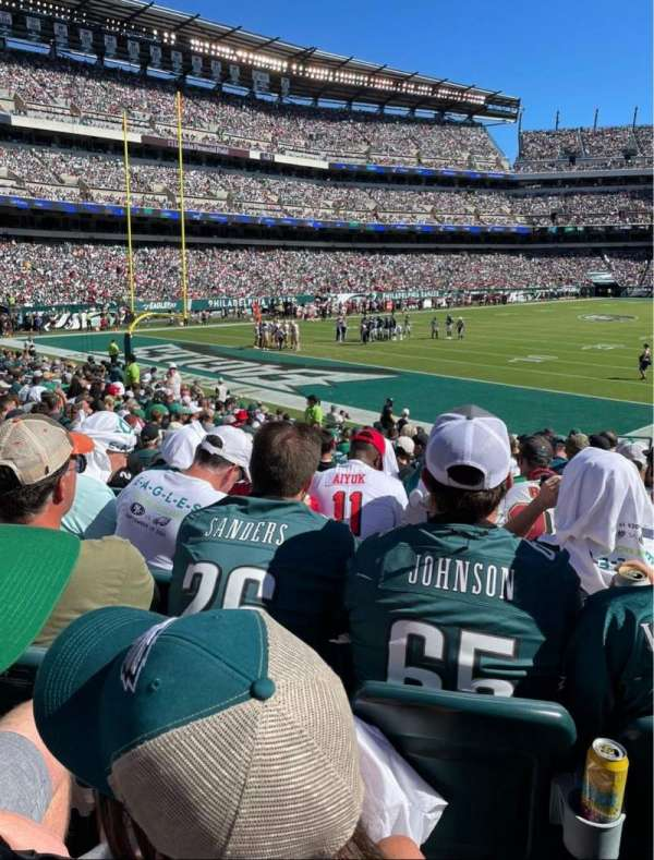 Lincoln Financial Field, section: 132, row: 15, seat: 5