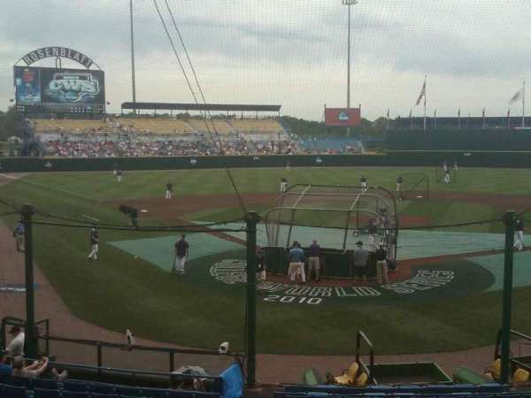 Rosenblatt Stadium, section: 15, row: A, seat: 1