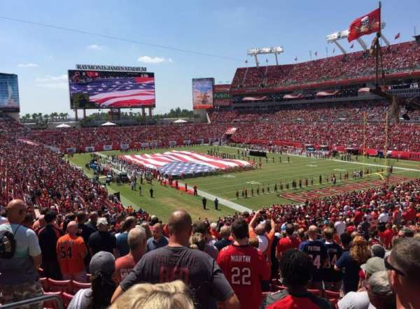 Raymond James Stadium, section: 245, row: S, seat: 4