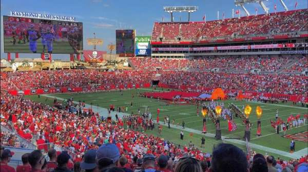 Raymond James Stadium, section: 218, row: U, seat: 8