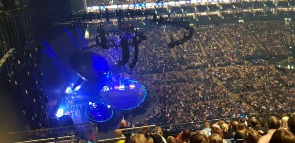 The O2 Arena, section: 403, row: K, seat: 469