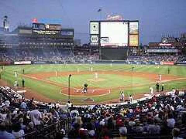 Turner Field, section: Lower level, row: Last row