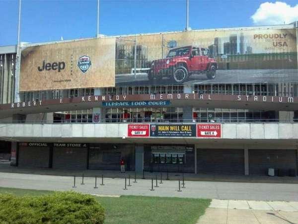 RFK Stadium, section: Main Entrance