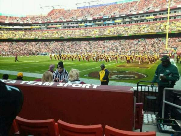 FedEx Field, section: 138, row: 3, seat: 2