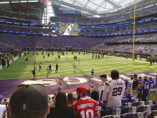 U.S. Bank Stadium, section: 143, row: 10, seat: 10
