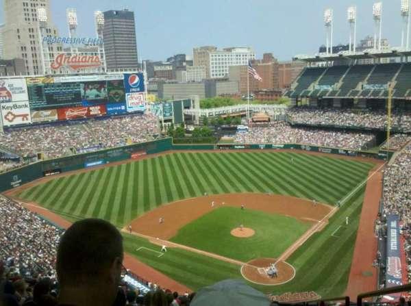 Progressive Field, section: 556, row: W, seat: 1