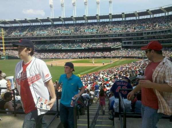 Progressive Field, section: left field