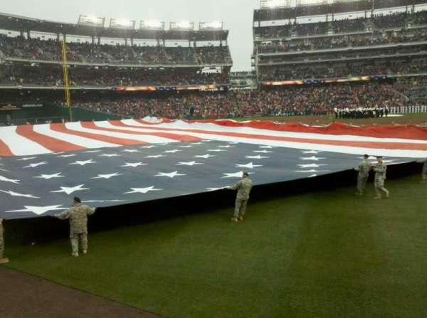 Nationals Park, section: 104, row: A