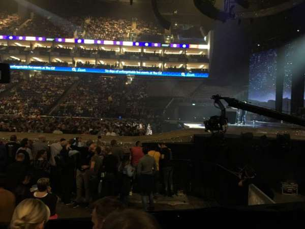 The O2 Arena, section: 112, row: E, seat: 388