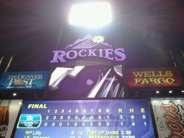 Coors Field, section: 156