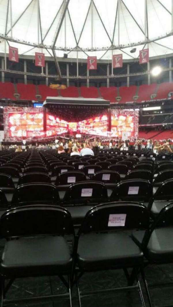 Georgia Dome, section: T, row: 22, seat: 7