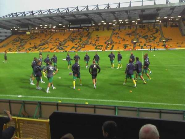 Carrow Road, section: Wensum, row: D, seat: 37
