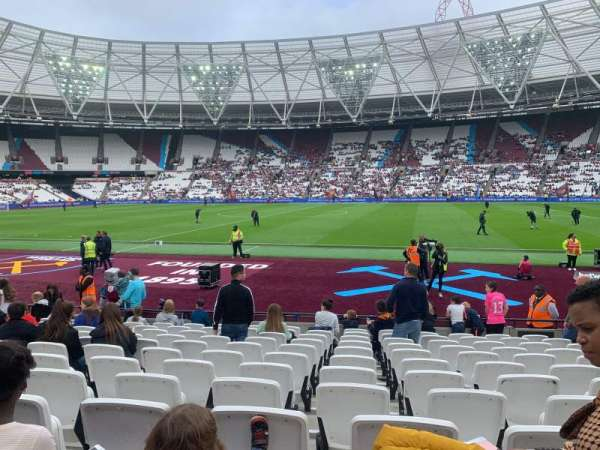 London Stadium, section: 110, row: 12 , seat: 278