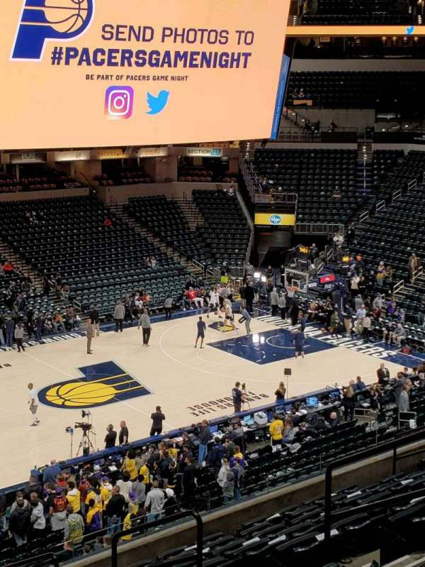 Bankers Life Fieldhouse, section: 106, row: 11, seat: 8