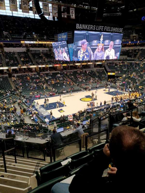 Bankers Life Fieldhouse, section: 106, row: 9, seat: 15