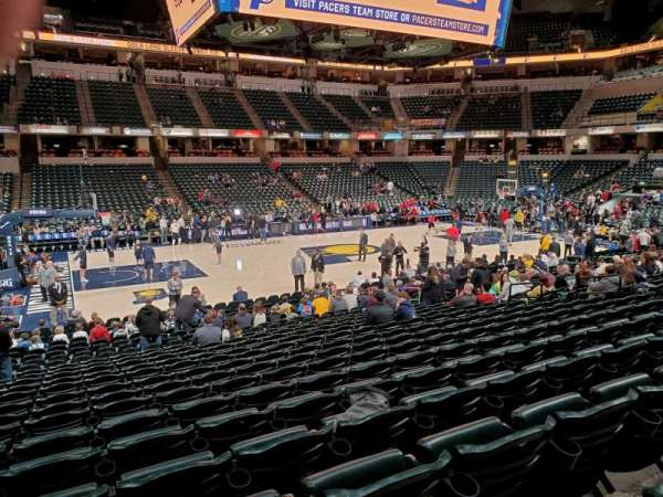 Bankers Life Fieldhouse, section: 71, row: 2, seat: 17