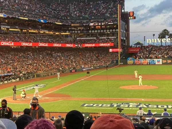 Oracle Park, section: 109, row: 28, seat: 6