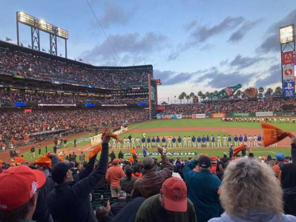 Oracle Park, section: 109, row: 28, seat: 5