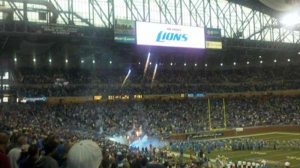 Ford Field, section: 108, row: 32