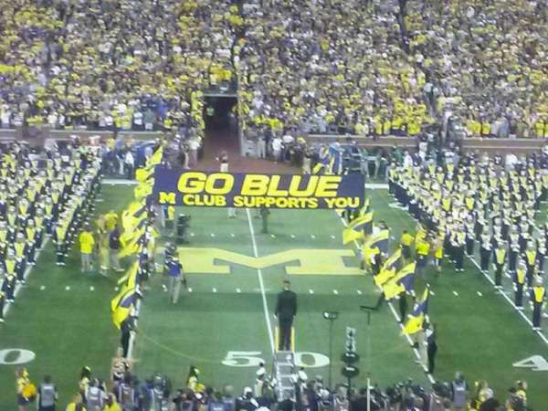 Michigan Stadium, section: 23, row: 46