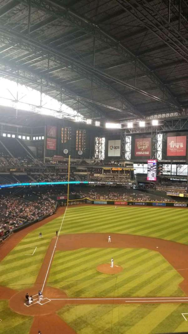 Chase Field, section: 312, row: 1, seat: 1