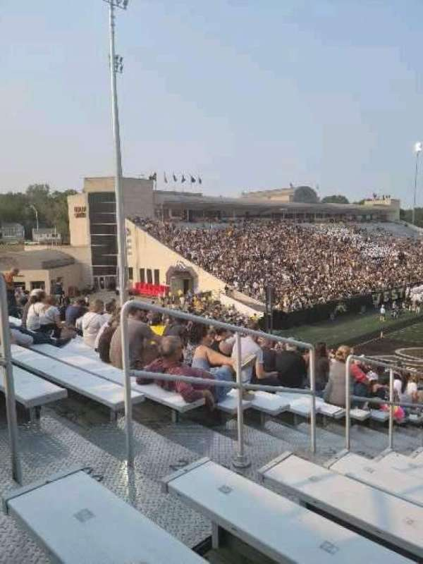 Waldo Stadium, section: K, row: 27, seat: 1