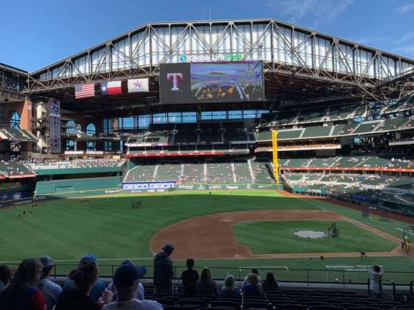 Globe Life Field, section: 108, row: 13, seat: 15